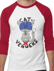 Cap' Cat Men's Baseball ¾ T-Shirt