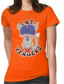 Cap' Cat Womens Fitted T-Shirt