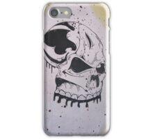 Chrome Silver Spray Paint Graffiti Skull  iPhone Case/Skin