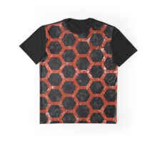 HXG2 BK-RD MARBLE Graphic T-Shirt