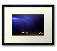 Chaos in the suburbs Framed Print