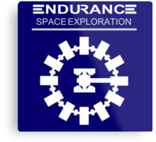 Inspired by Interstellar - Endurance Space Craft Metal Print