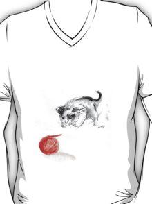 Cat and wool cats poster, sumi-e art print T-Shirt