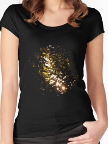 sun breaking through experiment  Women's Fitted Scoop T-Shirt