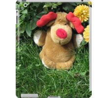 Pooch (our doorstop) in Our Garden in Romania iPad Case/Skin