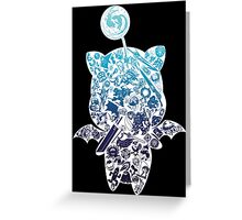 Final Fantasy Moogle-verse (blue) Greeting Card