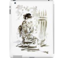 Japanese geisha large poster, tea ceremony art print iPad Case/Skin