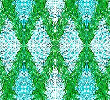 Ottoman Leaves in Turquoise sensations by joancaronil