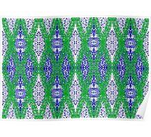 Ottoman Leaves in Lapis-blue sensations Poster