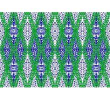 Ottoman Leaves in Lapis-blue sensations Photographic Print