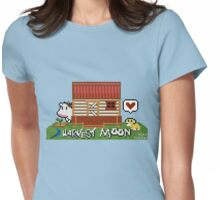 Harvest Moon (SNES) cross stitch design Womens Fitted T-Shirt