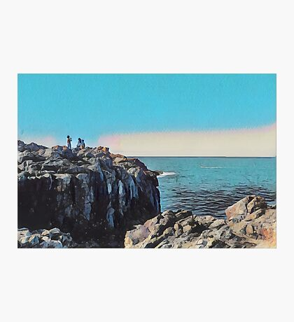 Ocean View by the Rocks Photographic Print