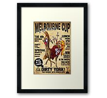 LABOR IN VAIN - MELBOURNE CUP - 2014 Framed Print