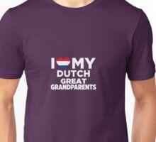 I Love My Dutch Great Grandparents  Unisex T-Shirt