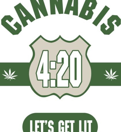 Cannabis 420 Sticker
