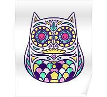 Pastel Owl Poster