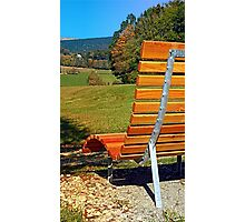 Bench with a view   conceptual photography Photographic Print