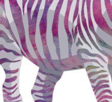 Colorful Zebra Sticker