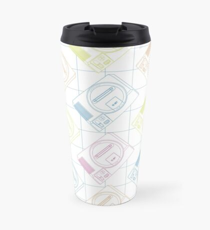 Megadrive outlines (white) Travel Mug