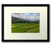 Swaledale Stone Barns Framed Print
