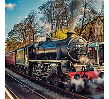 Steam on the Rails Photographic Print