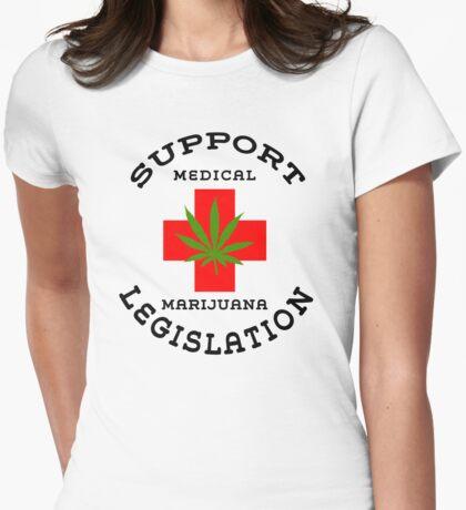 Support Medical Marijuana Legislation Womens Fitted T-Shirt