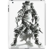 Samurai ink art print, japanese warrior armor poster iPad Case/Skin