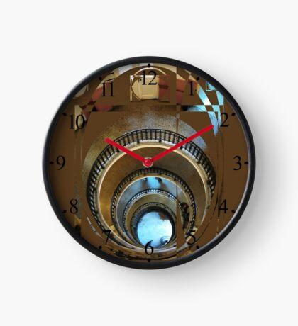 spiral staircase Clock