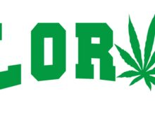 Marijuana Leaf Colorado Sticker