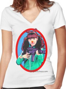 Crayon Pop 크레용팝 Lonely Christmas Soyul 소율 Women's Fitted V-Neck T-Shirt