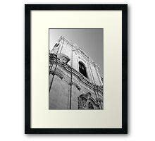 Monochrome church facade, Puglia Framed Print