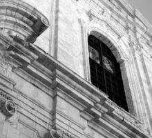 Monochrome church facade, Puglia Sticker