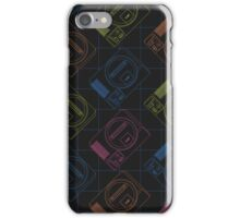 Megadrive outlines (white) iPhone Case/Skin