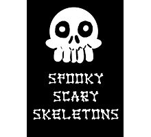 Spooky Scary Skeletons Photographic Print