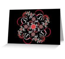 Swirling Flowers Greeting Card