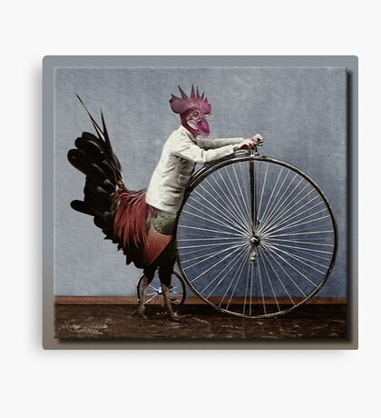 Red Rooster Bicycles Canvas Print
