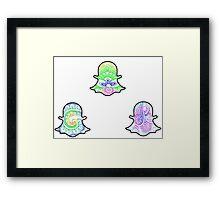 Tie Dye Cute Snapchat Pack Framed Print