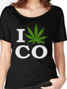I Love Colorado Marijuana Cannabis Women's Relaxed Fit T-Shirt