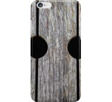 Wood with Circular Holes iPhone Case/Skin