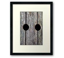 Wood with Circular Holes Framed Print
