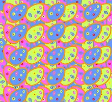vector seamless pattern with multi-colored Easter eggs by Ann-Julia