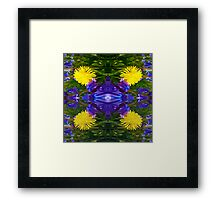 Abstract Dandy Four pattern Framed Print