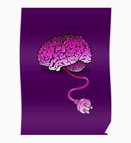 Your Brain without Coffee - Pink Poster