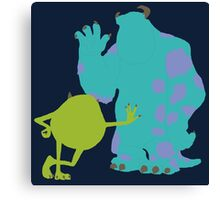 Mike Wazowski and James P. Sullivan (Mike and Sulley) - Monsters Inc Canvas Print