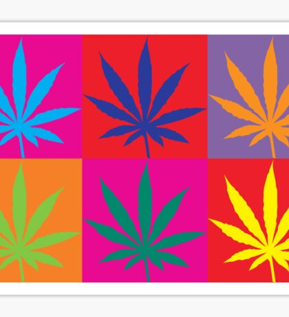 Marijuana Abstract Sticker