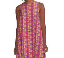 Marijuana Abstract A-Line Dress