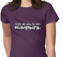 Block B Teach me how to Derp Womens Fitted T-Shirt
