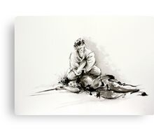 Sumi-e martial arts, samurai large poster for sale Canvas Print