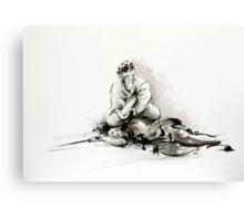 Sumi-e martial arts, samurai large poster for sale Canvas Print