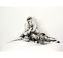Sumi-e martial arts, samurai large poster for sale Photographic Print
